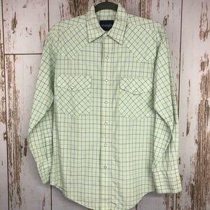 Wrangler Shirt, Pearl Snaps, Size Small